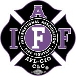 IAFF Black/Purple Decal