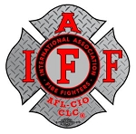 IAFF Diamond Plate Red Decal with Red