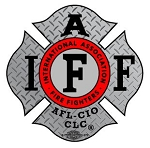 IAFF Diamond Plate Decal with Black