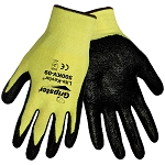 Global Glove Gripster Lite Kevlar , Coated, Neon Yellow Size small