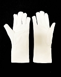 Men's White Cotton Heavy Winter Fleece-Lined Gloves with PVC Grips