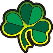 Four Leaf Clover Multi Color Decal