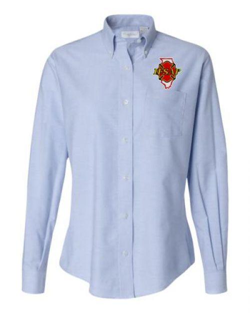 Ifsap ladies oxford dress shirt for Oxford vs dress shirt
