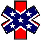 Dixie EMS Star of Life Decal