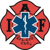 Red-Black IAFF-EMS Decal