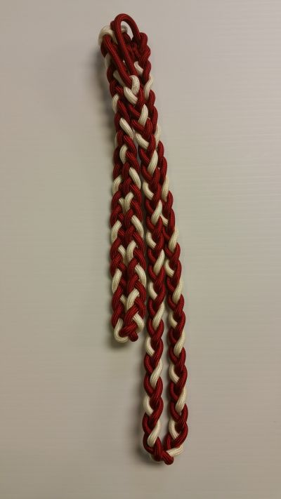 Red and White Double Shoulder Cord 11-14inch