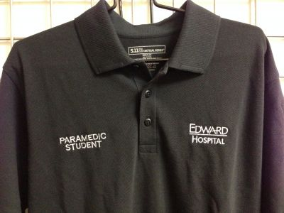 Edward - 5-11 Polo Shirt<br>(Embroidered with Edward Hospital Paramedic Student Logo)