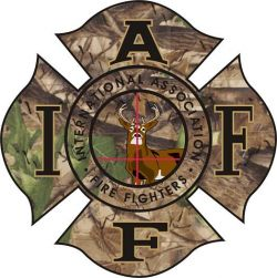 IAFF Deer Decal Combo<br>Item #Deer 45 with Bullseye