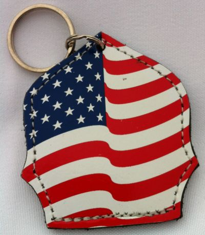 USA Flag Helmet Shield Keychain