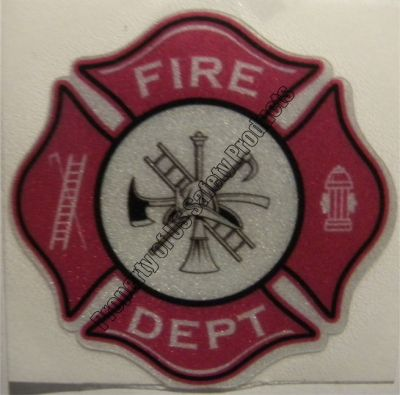 Purple Fire Department Maltese Cross Decal