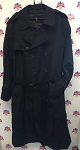 Anchor Uniform Long Black Trench Coat 761MT Sizes 58L, 48S, and 46L