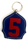 #5 Badge Keychain N-R
