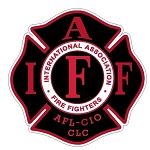 IAFF Black with Red letter decal 2