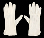 Men's White Cotton Dress Glove with PVC Grips