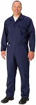 Indura Ultra Soft Navy , Long Sleeve Flame Resistant Coveralls