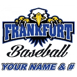 Personalized Frankfort Eagles Baseball Decal