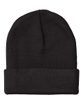 USA Made 12 inch Knit Beanie with Cuff