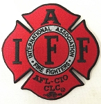 IAFF Red-Black Patch