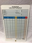 Fire Department Lobby Control Tracking Board (Command Board)  with Velcro 18
