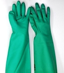 22mil, 18 in Green Rubber Gloves , size XL