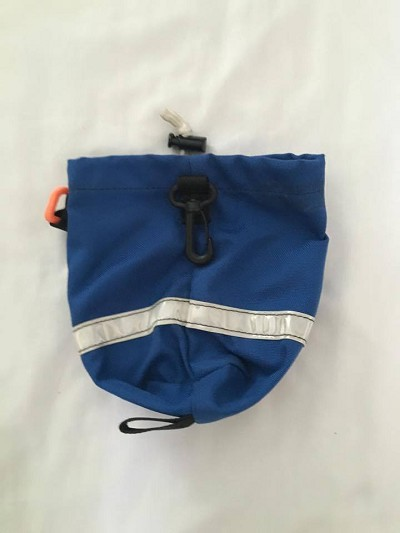 Rope Bag in Blue with Silver Reflective Strip
