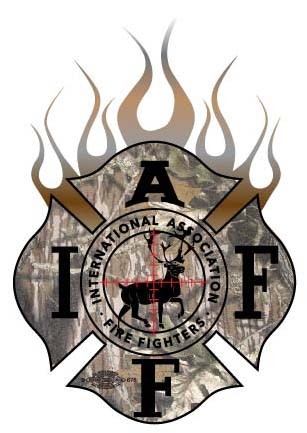 IAFF Flamed Deer Decal