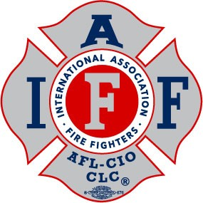 IAFF Silver-Blue Decal