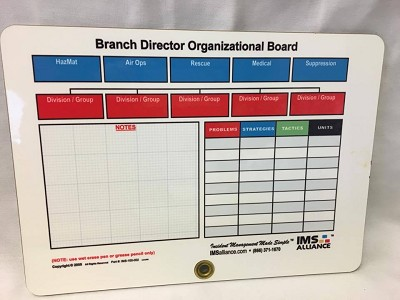 "Branch Director Organizational Board (Command Board) 9"" x 12"""