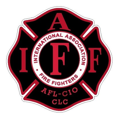 IAFF Black with Red letter decal 2""