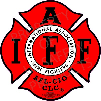 IAFF Red-Black Decal