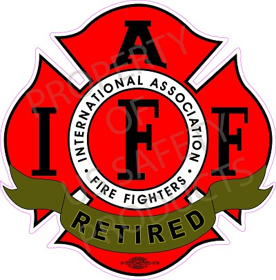 IAFF Red-Black Decal - Retired International Association of Fire Fighters