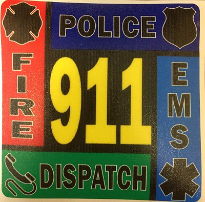 911 Police/Fire/Dispatcher/EMS Decal