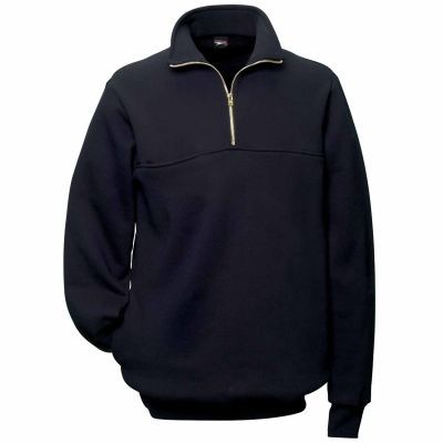 Grouped Union Locals - Quarter Zip Front Rubin Brothers Firefighter's Sweatshirt