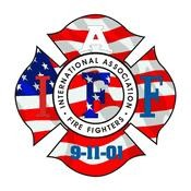 IAFF USA Flag Decal with 9-11-01