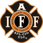 IAFF Black/White/Orange Decal