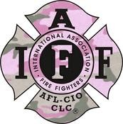 IAFF Female Camo Decal