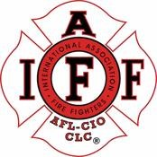 IAFF White-Black-Red Decal