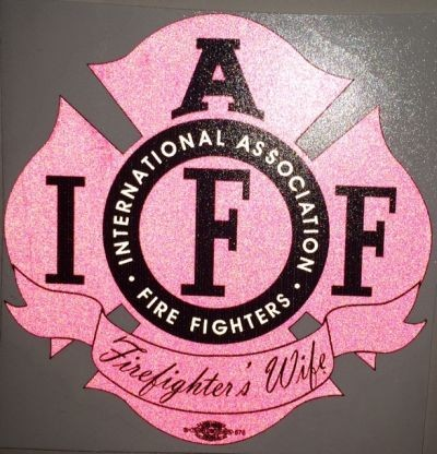 IAFF Pink Firefighters Wife Decal