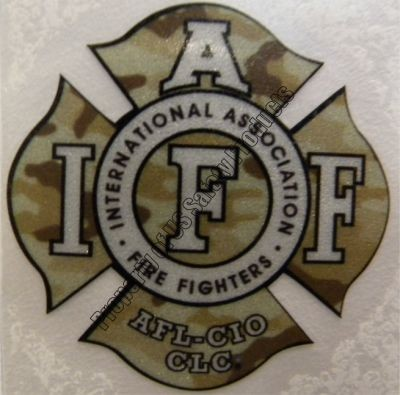 IAFF Woodland Camo Decal