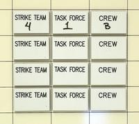 12 Piece writable tag set for strike team, task force and crew